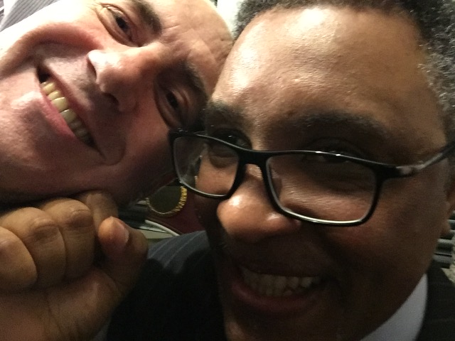 The author and boxer Michael Watson